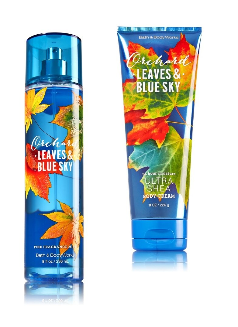 Bath & Body Works ~ Signature Collection ~ Orchard Leaves & Blue Sky ~ Gift Set~ Fine Fragrance Mist & Ultra Shea Body Cream