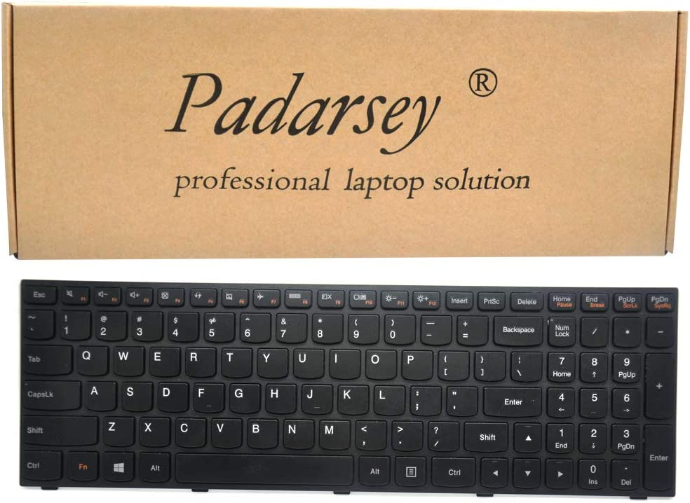 Padarsey Replacement Keyboard with Frame Compatible for Lenovo B50-30 B50-30 Touch B50-45 B50-70 G50-30 G50-45 G50-70 G50-70m Z50-70 Z50-75 Series Laptop