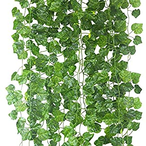 Echodo 82 Ft Artificial Ivy Leaf Garland Fake Hanging Plants Grape Silk Ivy Vine Garlands Wall Crafts Christmas Party Decoration 113
