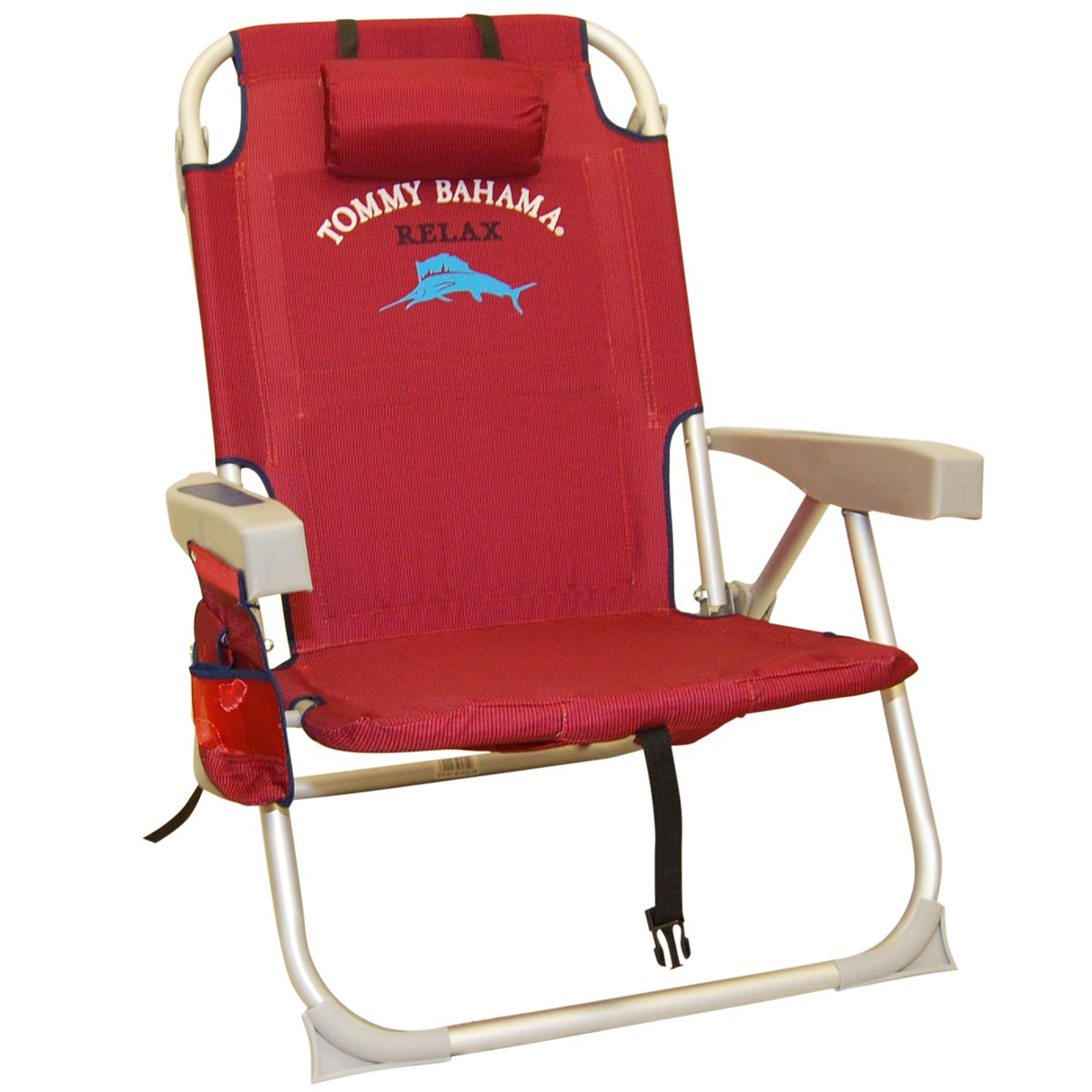 2 Tommy Bahama Red Backpack Cooler Chairs
