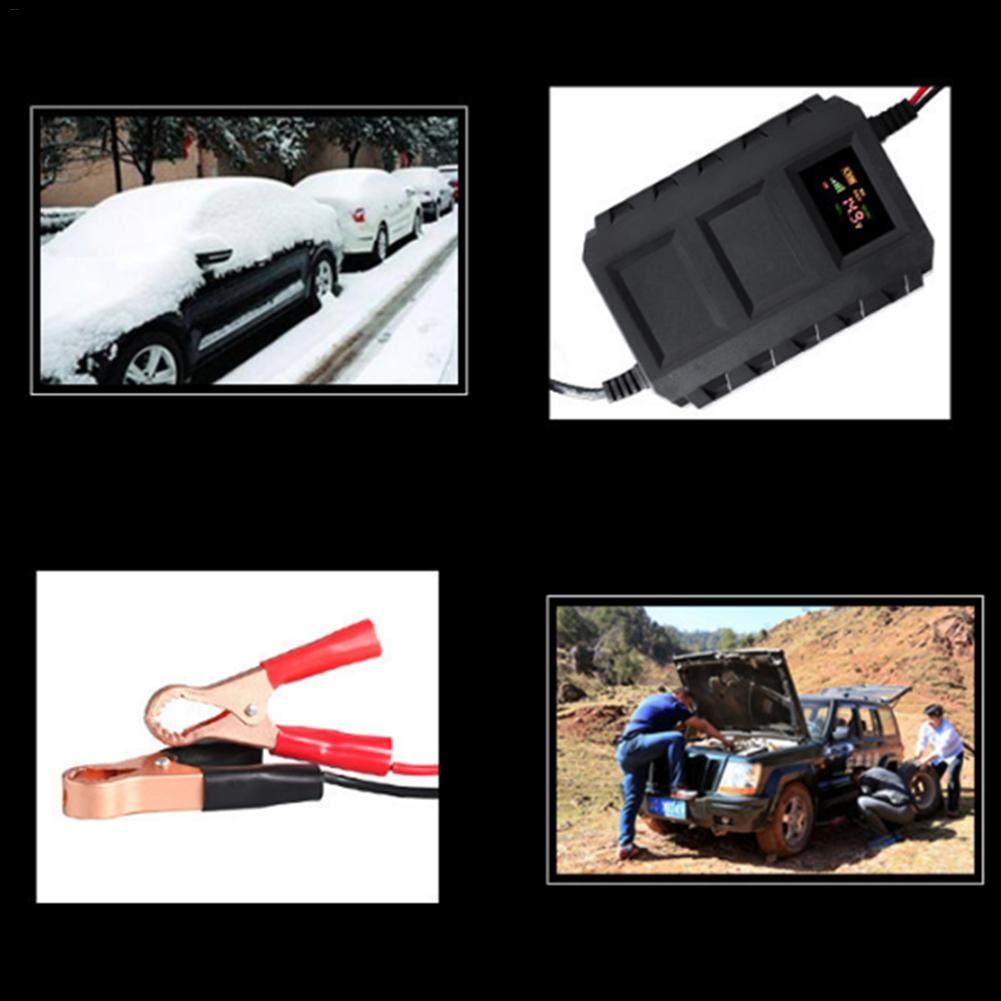 Mantenitore Multifunzione 10A Caricatore Automatico Intelligente con Schermo LCD per Auto Motore Caricabatteria 12V Shengshibaiying Caricabatterie Auto
