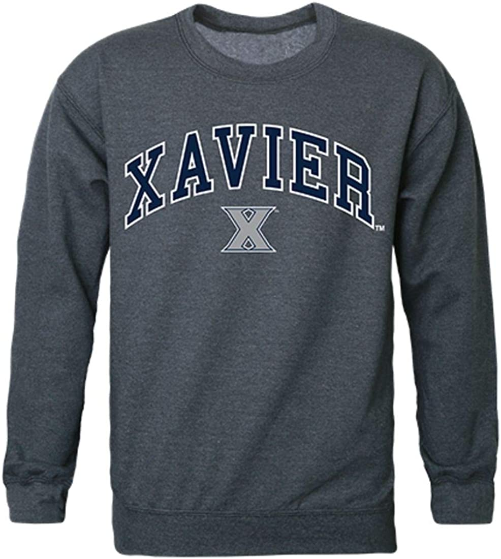 W Republic Xavier University Campus Crewneck Pullover Sweatshirt Sweater Heather Charcoal