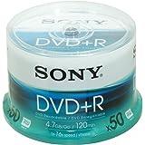 Sony DVD+R Enregistrable  16X Spindle de 50 4.7 Go/ Vitesse 16X 50DPR120BSP