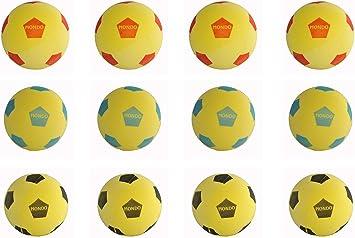 Juego de 12 Mondo Fútbol Pelota de espuma Softball 20cm Diámetro