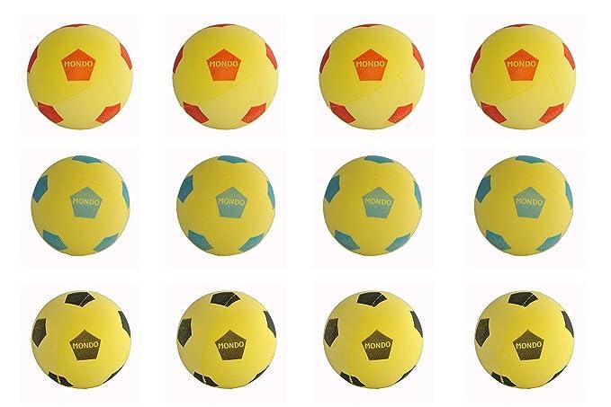 Juego de 12 Mondo Fútbol Pelota de espuma Softball 20cm Diámetro ...