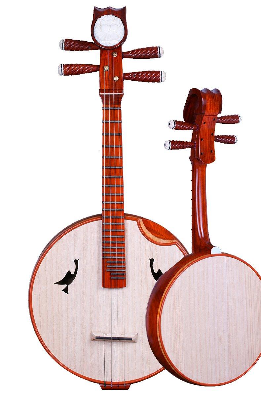 OrientalMusicSanctuary Professional Scented Rosewood Zhongruan - Chinese Banjo Lute Ruan