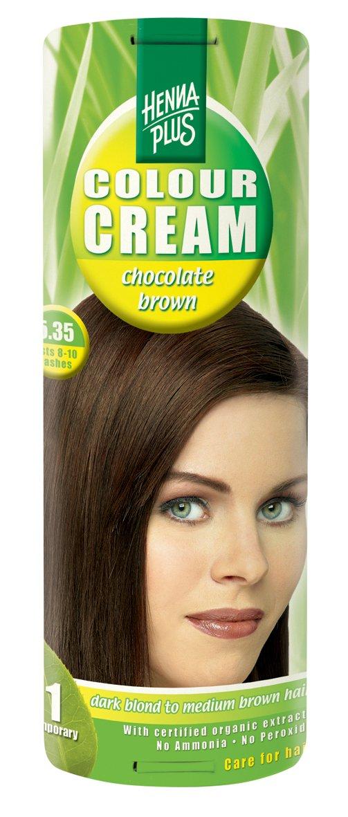 Hennaplus Colour Cream Chocolate Brown 5.35–60ml Henna Plus 48298