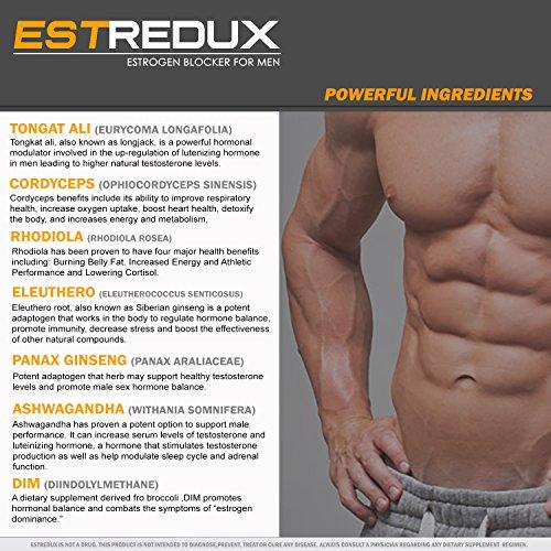 VH Nutrition Estredux Estrogen Blocker for Men   Aromatase Inhibitor and Anti Estrogen - 30 Day Supply - 60 Capsules