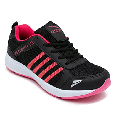 c016dbde7 ASIAN Fashion-13 Black Pink Running Shoes