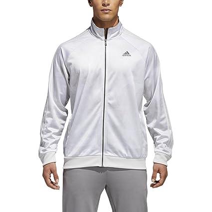 adidas Men's Essentials 3 Stripe Tricot Track Jacket in 2019