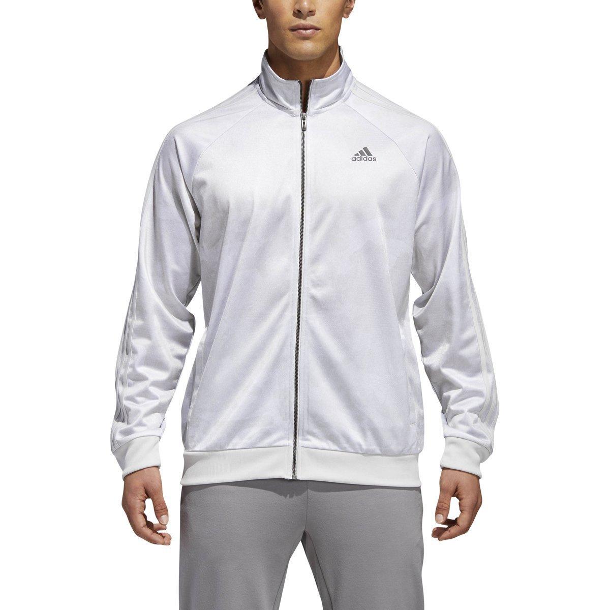 b2b87c5f7bdb0 adidas Men's Essentials 3-Stripe Tricot Track Jacket,Grey One F17,Small