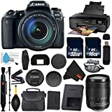 6Ave Canon EOS 77D DSLR Camera with 18-135mm USM Lens International Version (No Warranty) + Epson SureColor P600 Inkjet Printer + 16GB & 32GB SDHC Class 10 Memory Card + Carrying Case Bundle