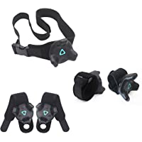 AMVR VR Tracker Straps,Adjustable Waist Belt and Wrist Hand & Palm Straps Full Body Tracking VR Bundle for HTC Vive…