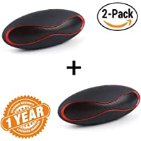 Captcha Pack of Two Wireless Bluetooth Rugby Design Handsfree Portable Stereo Speaker with SD Card Slot