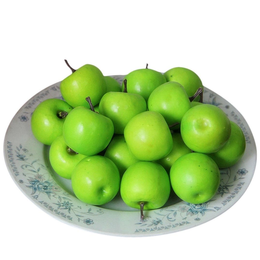 Binmer(TM)50 pcs Home Furnishing Artificial Apple Plastic Dcorative Fruit Photographic Props Home Decor (B)
