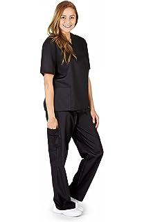 923774aa1f4 Amazon.com: Natural Uniforms Unisex Scrub Set - Medical Scrub Top ...