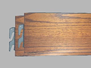 product image for Twin Size Wooden Bed Rails with slats(Set of 2 Rails) (Oak)