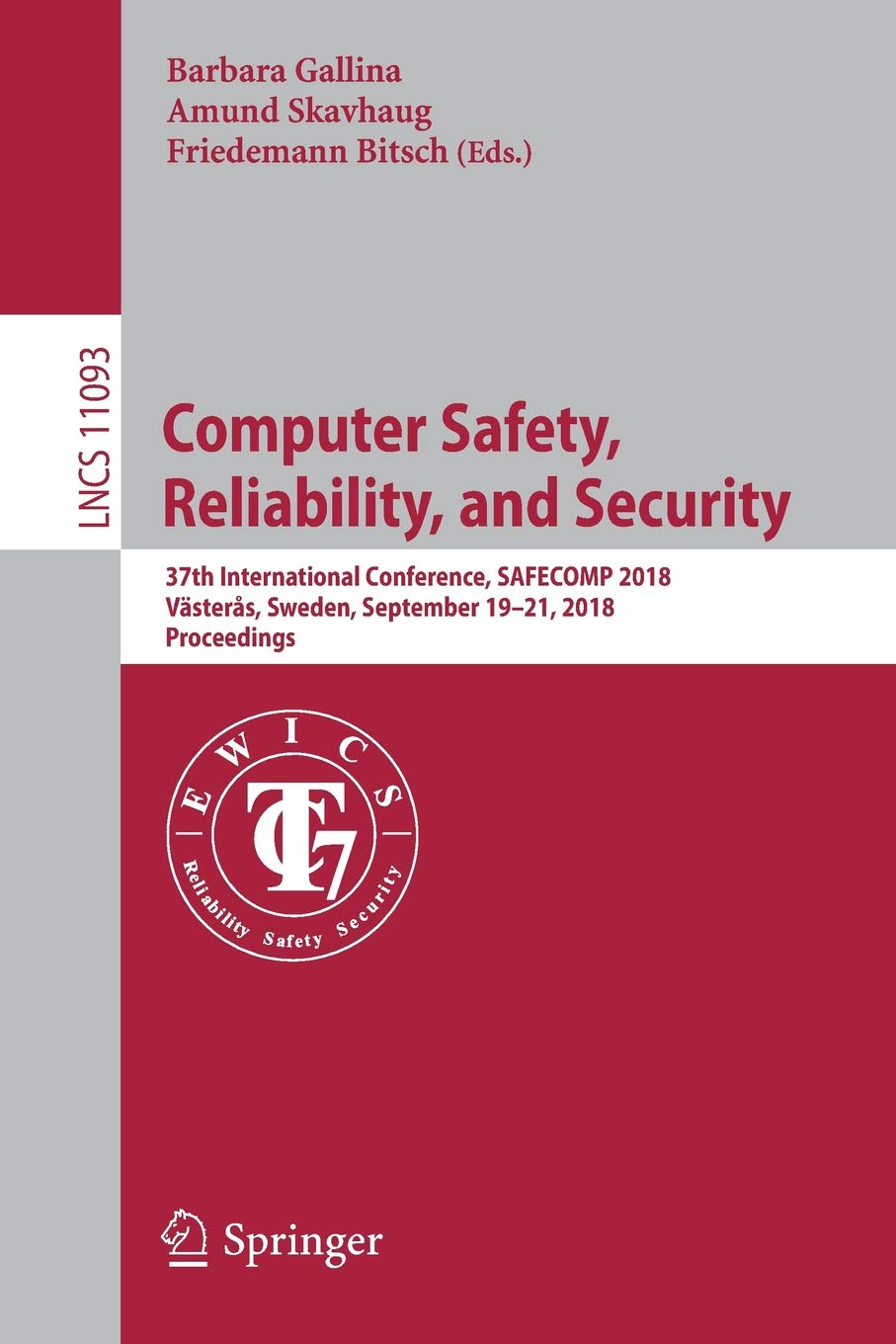 Computer Safety, Reliability, and Security: 37th