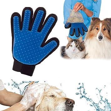True Touch Perros Deshedding Peine De Pelo Cepillo Guante De Mascota