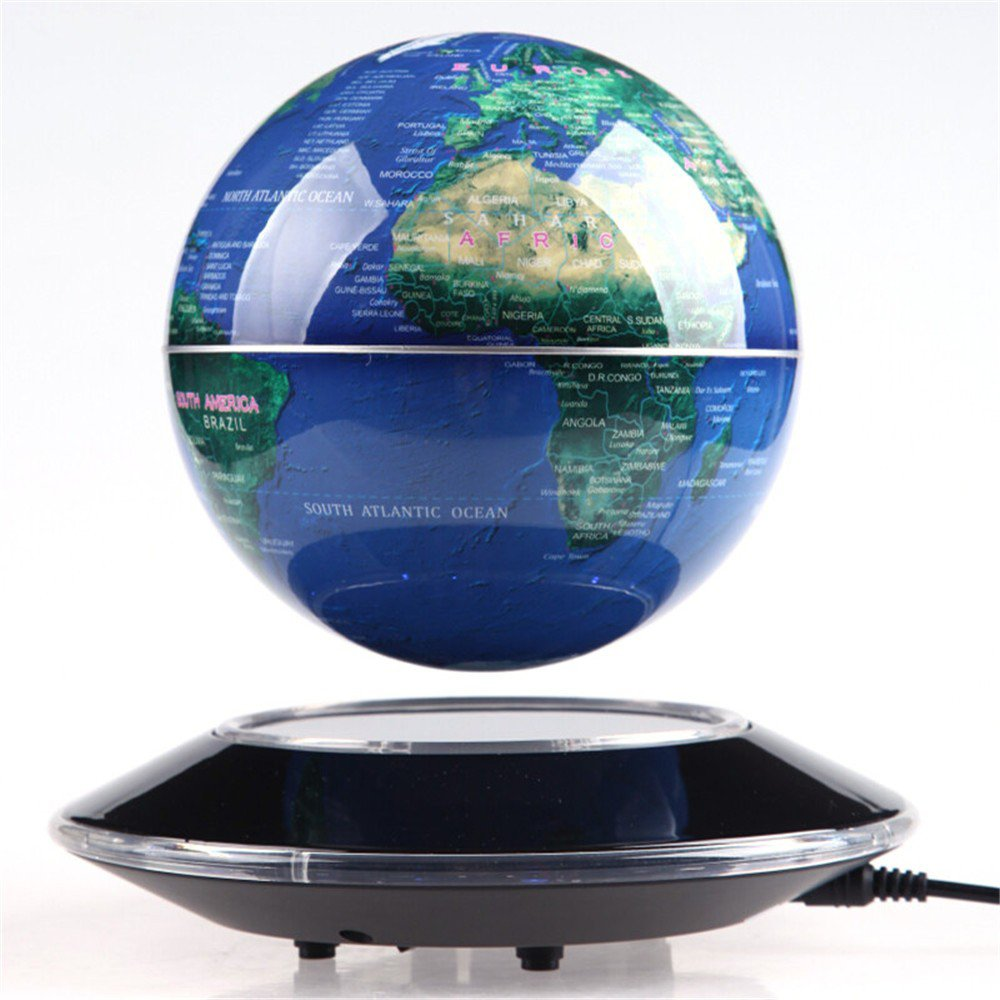 Tenlacum 6 inch electronic magnetic levitation floating globe world tenlacum 6 inch electronic magnetic levitation floating globe world map with led lights home office decoration business gift showcase decoration blue gumiabroncs Image collections