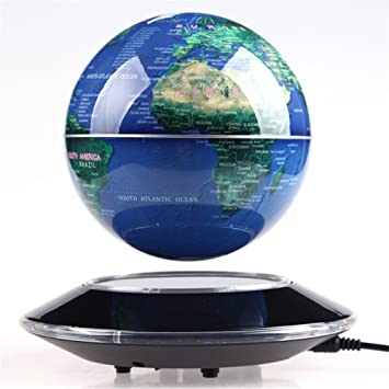 Tenlacum 6 inch electronic magnetic levitation floating globe world tenlacum 6 inch electronic magnetic levitation floating globe world map with led lights home office decoration gumiabroncs Gallery
