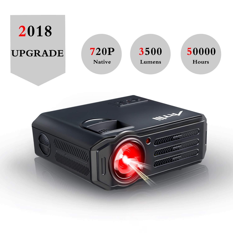 HD Beamer 3500 Lumens Artlii LED Projektor für Heimkino Fußballspiel Gaming, Unterstützung 1080P, mit Kostenlose HDMI-Kabel, Kompatibel mit Amazon Fire TV Stick, USB/SD/VGA/AV Anschlüsse Unterstützung 1080P