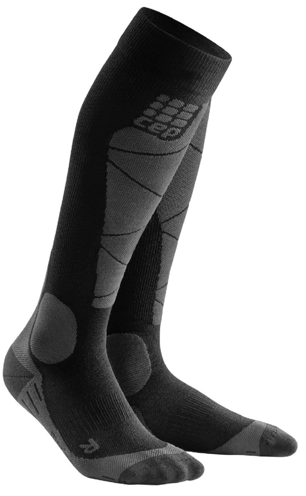 CEP Men's Winter Ski Compression Socks Ski Merino (Black/Anthracite) 4 by CEP