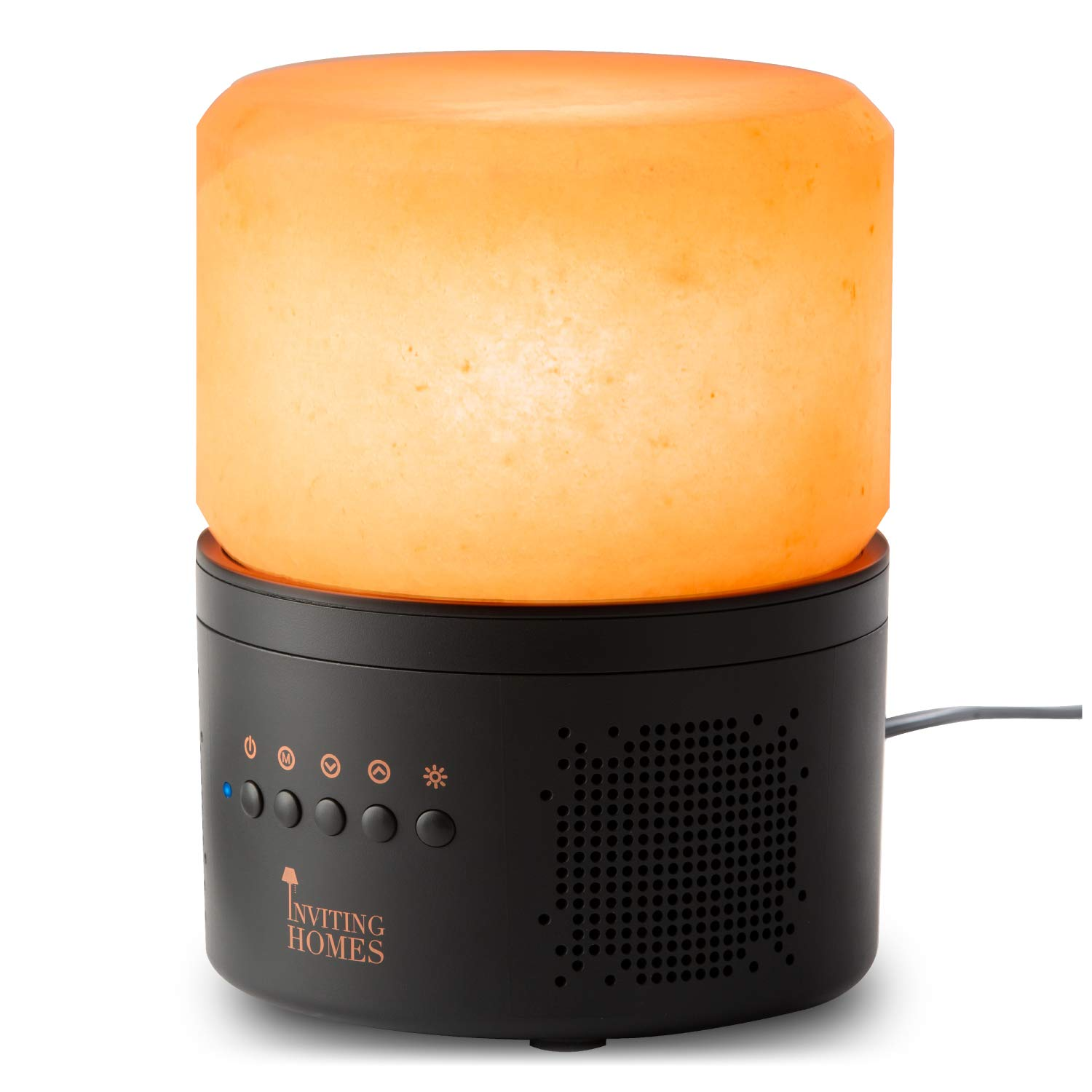 INVITING HOMES Audioglow Himalayan Salt Lamp Bluetooth Speaker – High Sound Quality – Enhanced Bass – Natural Crystal Light Creates A Calm, Soothing Atmosphere - S - Series