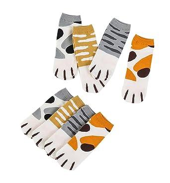8f63793aedf609 Amazon | Spinas (スピナス) レディース ソックス 8足組 猫足 デザイン ...