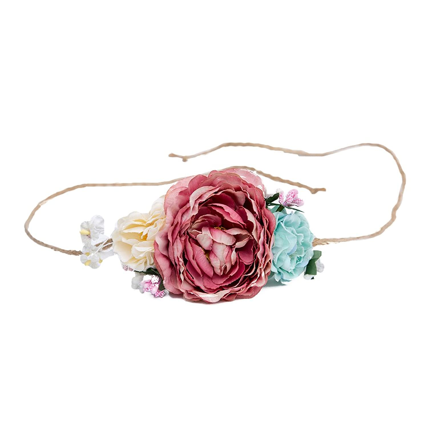 Hot Sale Tieback Flower Crown Belt Hair Band Party Decoration For