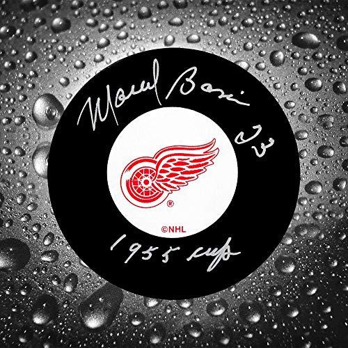 Marcel Bonin Detroit Red Wings 1955 Cup Autographed Puck