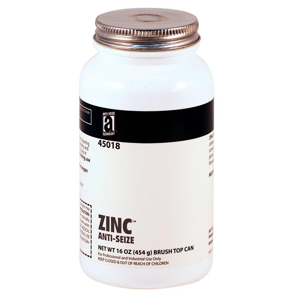 Anti-Seize Technology 45018 ZINC ANTI-SEIZE Zinc Petrolatum Compound, 16 oz, Paste, 16 oz. Can, Gray