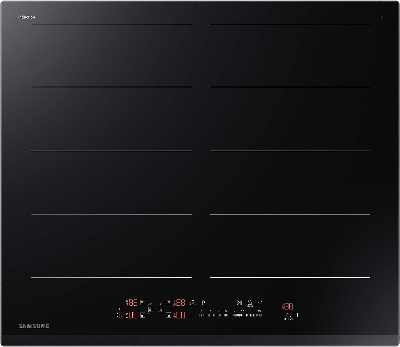 Samsung NZ64R9787GK - Placa de Inducción Dual Flex Zone Plus, Control deslizante 15 niveles + Boost, Panel LED, 7.2KW, WiFi, Bluetooth, Negro: Amazon.es: Grandes electrodomésticos