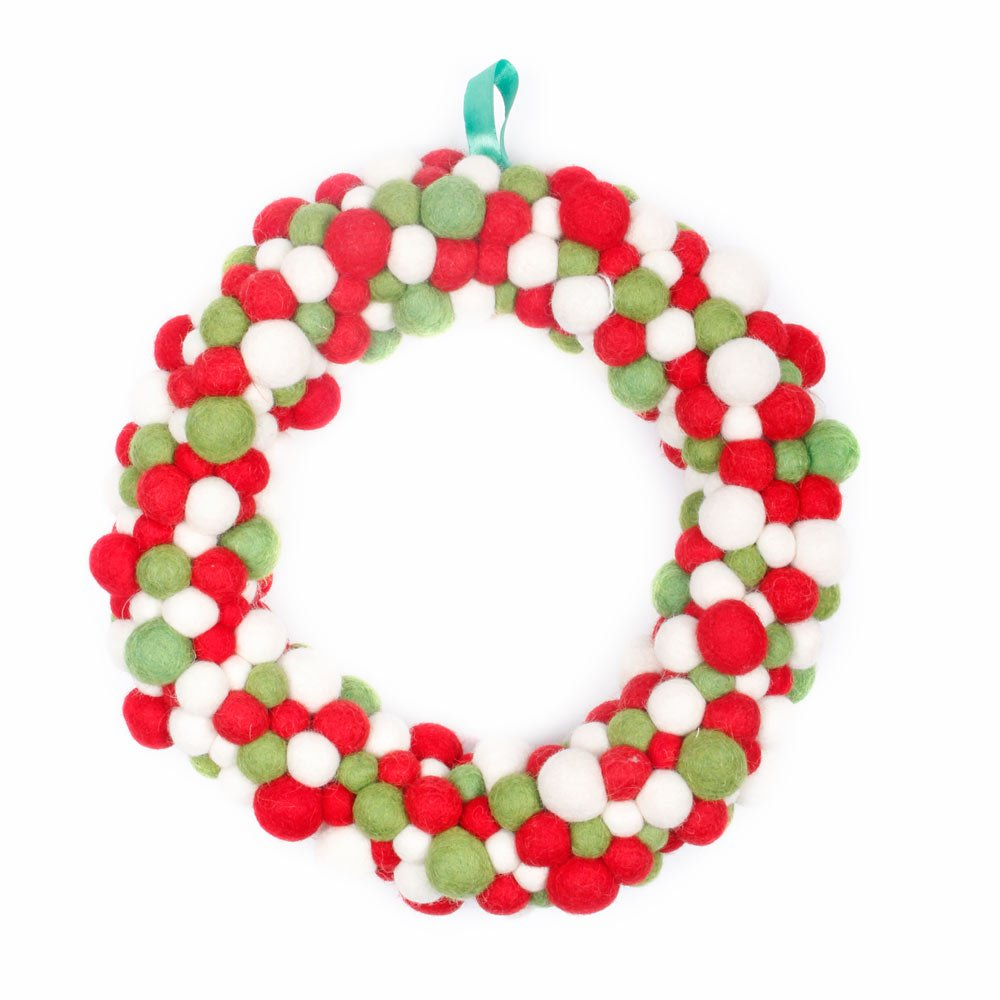 Buy Overstock Sale Felt Wreath Eco Friendly Colorful Handmade Beautiful Wool Christmas Decor Perfect Gift By Maha Bodhi Online At Low Prices In India Amazon In
