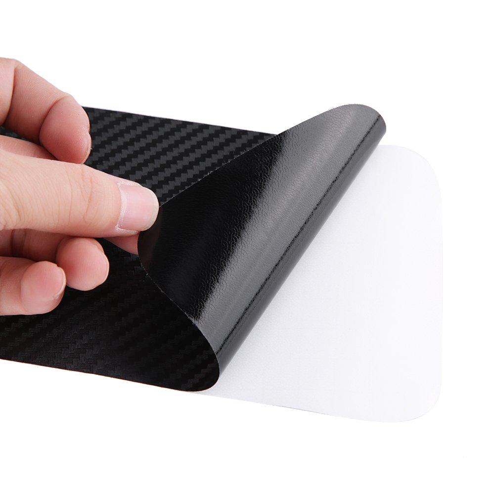 REALM-ARK Nastro proteggi guardia paraurti posteriore auto durevole protettiva autoadesivo adesivo paraurti posteriore adesivo protettore striscia porta posteriore davanzale