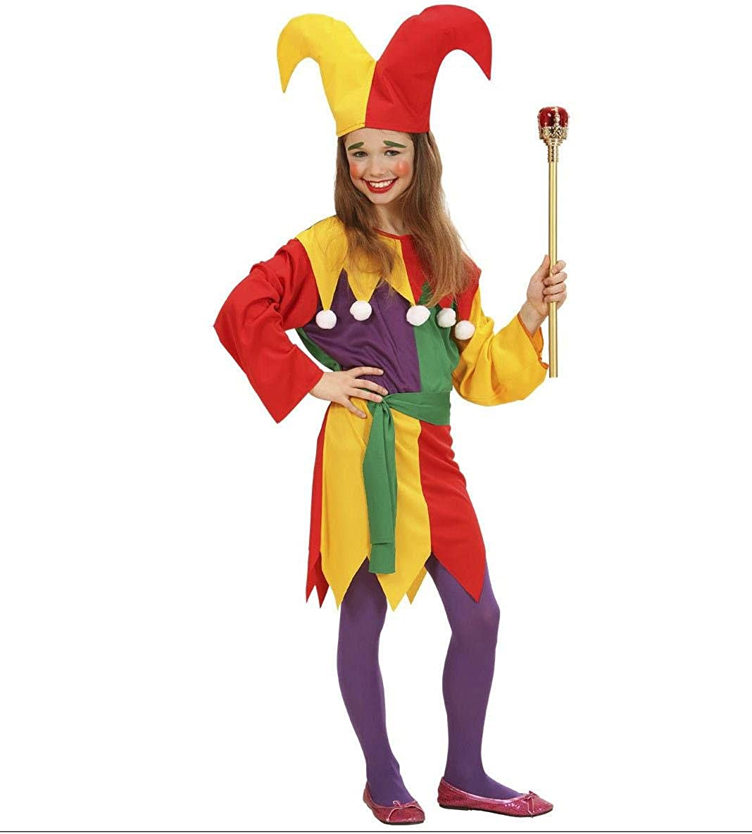 Marvelous Amazon.com: Childrenu0027s Jolly Jester Costume Medium 8 10 Yrs (140cm) For  Clown Fancy Dress: Clothing