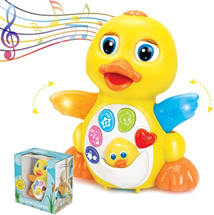 CifToys Baby Toys Musical Duck Toys for 1 Year Old Boy Girl Gifts with Lights...