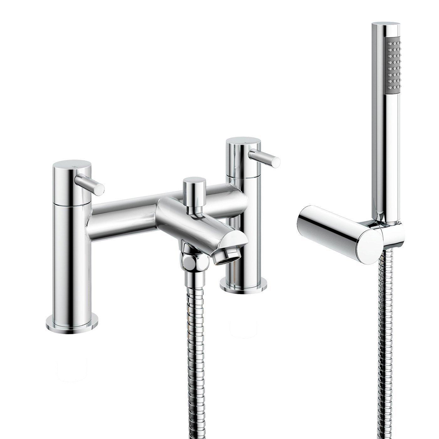 iBathUK Luxury Bath Filler Mixer Tap with Modern Bathroom Shower Head TB3015 by iBathUK