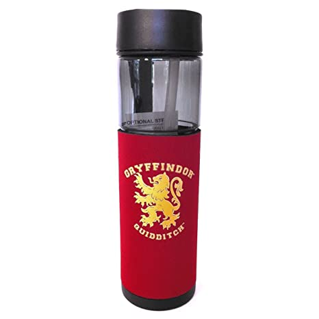 23cbb995aa6 Image Unavailable. Image not available for. Color: Wizarding World Harry  Potter Gryffindor Quidditch Flip Top Travel Water Bottle