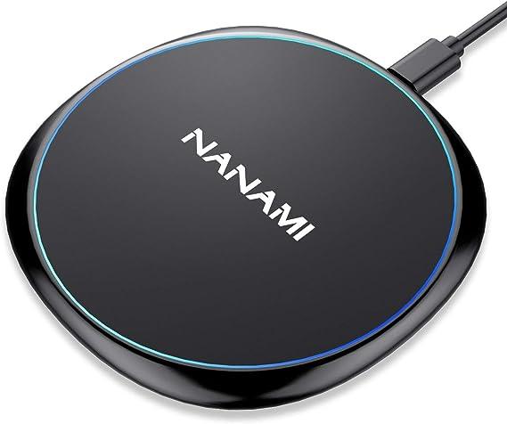 Fast Wireless Charger, NANAMI Qi Charging Pad 7.5W Compatible iPhone SE 21111 Pro11 Pro MaxXXSXS MaxXR88 Plus, 10W Fast Charge Samsung