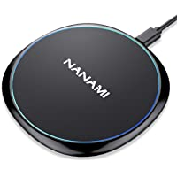 NANAMI Qi ワイヤレス充電器 急速 iPhone XS Max XS X XR 8 Plus 8 Samsung Galaxy qi対応 5W/7.5W/10W 黒