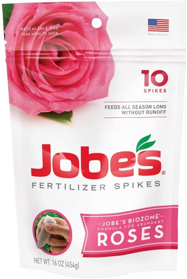 Jobe's 4102 Rose Outdoor Fertilizer Food Spikes, 10 Pieces, 16 oz (Pack of 2)