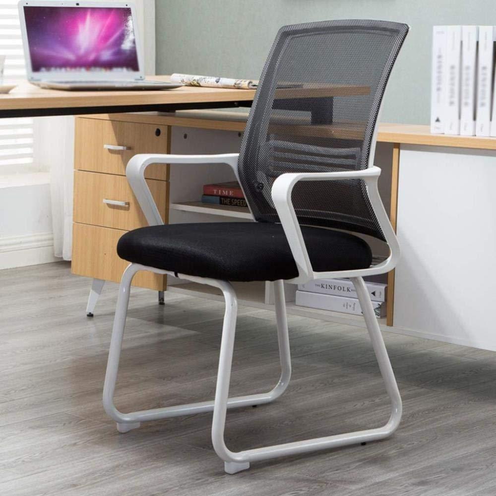 Kontorsstol LHY ryggstöd datorstol hem spel esports sittande personal möte hållbar (färg: grå) Svart