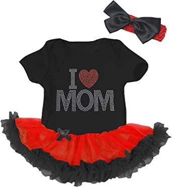 Petitebella Happy 1st Mothers Day Mommy Hot Pink Bodysuit Floral Tutu Nb-18m