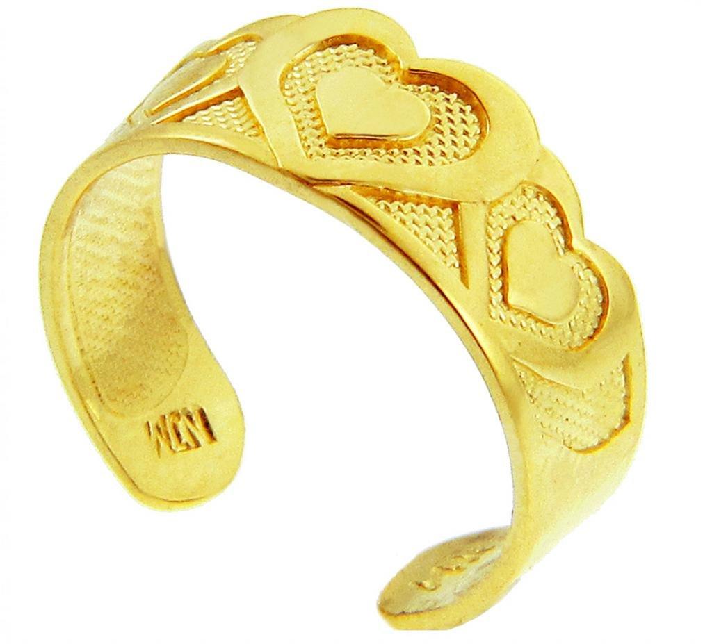 Bold Heart Yellow Gold Toe Ring (14K Gold)
