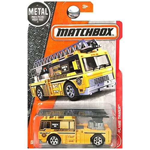 Matchbox 2017 Heroic Rescue Flame Tamer (Fire Engine) 66/125, Orange -
