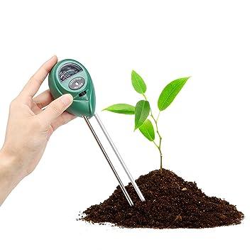 Weiye - Kit de prueba de suelo para jardinería, medidor de suelo, 3 en