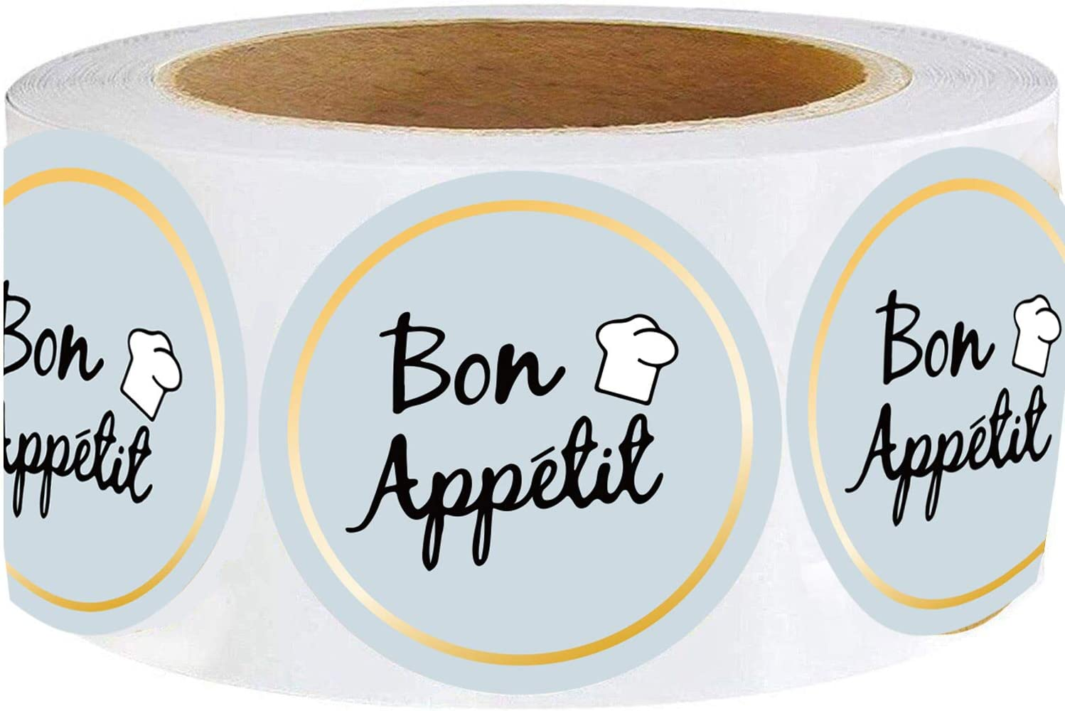 Besttile Party Bon Appetit Stickers Roll,2Inch,Food Service and Catering Business Lables,Bakery Packaging Stickers,Waterproof Bon Appetit Stickers,Decorative Sealing Stickers