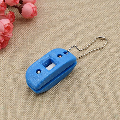 Ice Skate Sharpening Tool (Hi-Pro Handheld Sharpener for Ice Skate Blade Hockey Sharpening Stone Tool Sports (Blue))