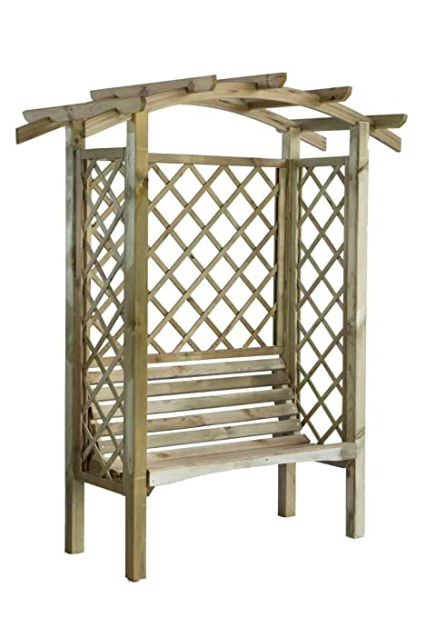 Super Liveoutside Linton Wooden Pergola With Bench Side Trellis Forskolin Free Trial Chair Design Images Forskolin Free Trialorg